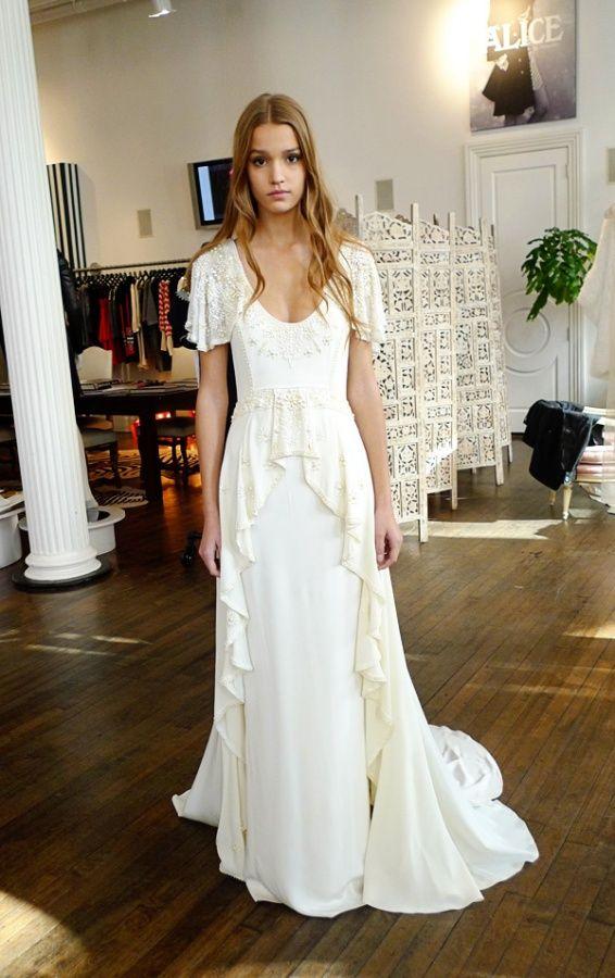 Temperley Londons Collection Of Timeless Sheath Dresses Lovely - Flutter Sleeve Wedding Dress
