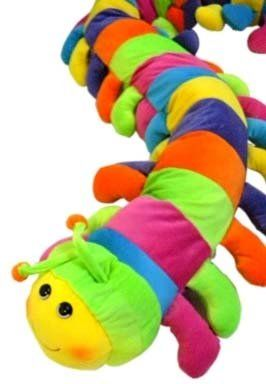 Q T Katerpillar The Giant 6ft Multicolor Plush Caterpillar