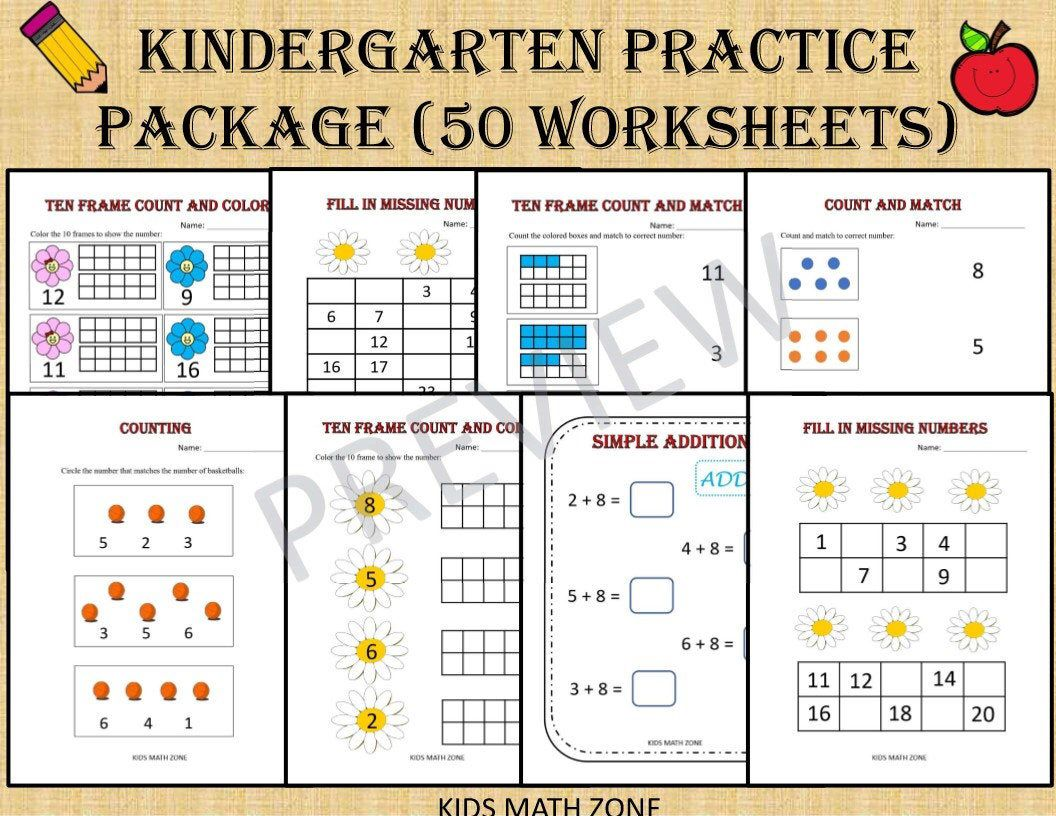 Kindergarten Practice Package