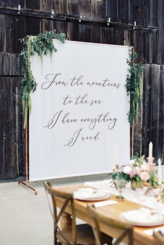 Script Font - Custom Wedding Tapestry, Wedding Ceremony, Wedding ...