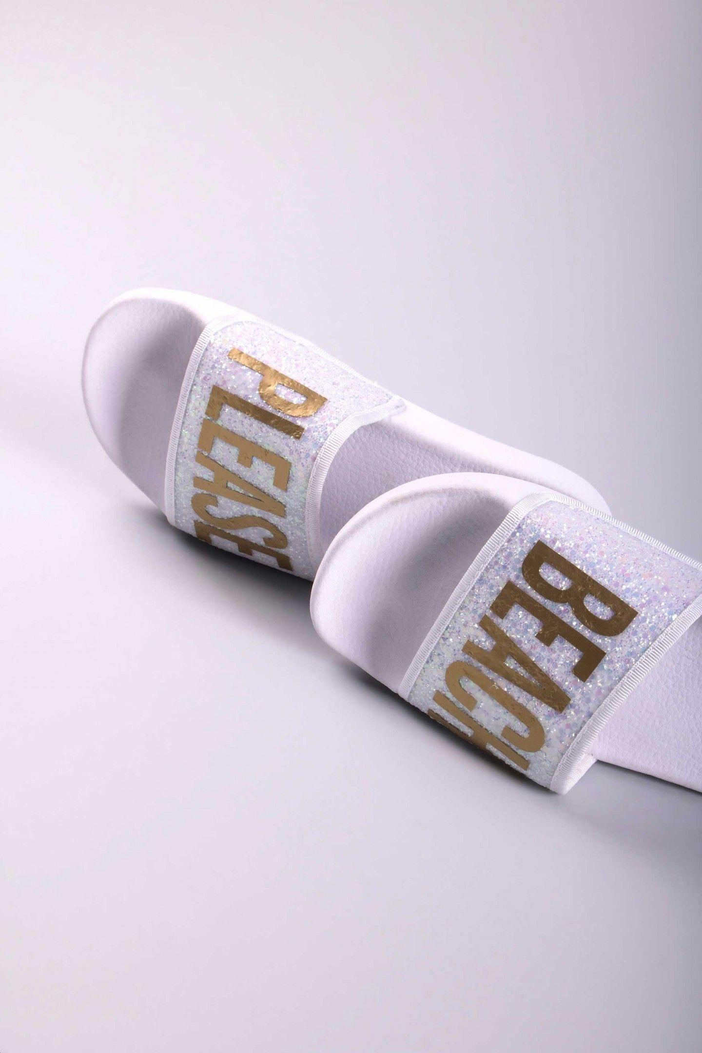 76e8369c4 GLITTER BEACH PLEASE WHITE - TheWhiteBrand SS 18 New Collection. Women s  flat slide sandal