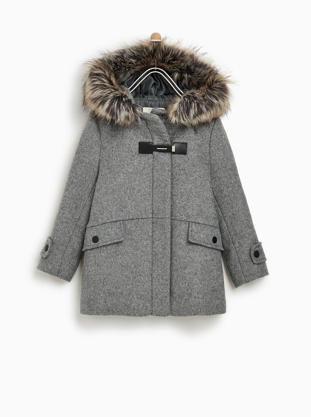 435346ac Image 1 of FAUX FUR HOODED DUFFLE COAT from Zara | Olivia's ...