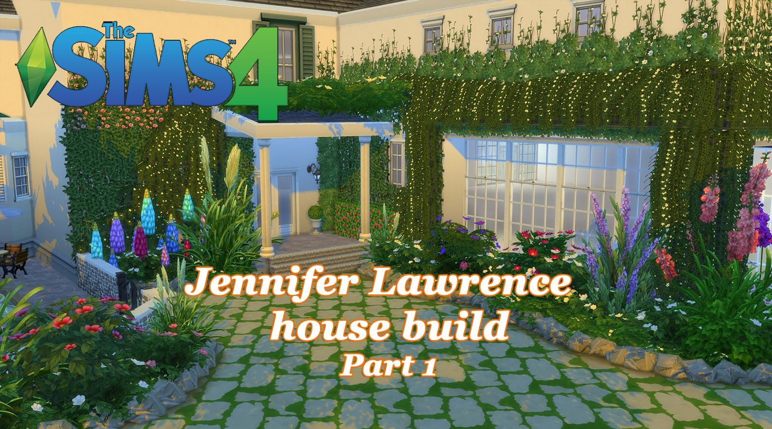 The Sims 4 Jennifer Lawrence House Build Part 1 Sims4