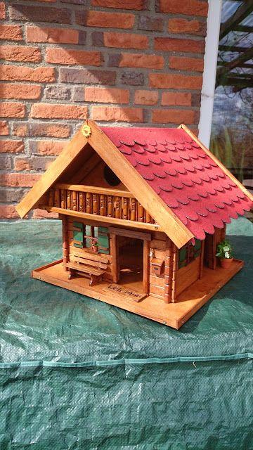 Vogelhäuschen Futterhaus Futterhäuschen Vogelhaus Robustes Vogel haus aus Holz