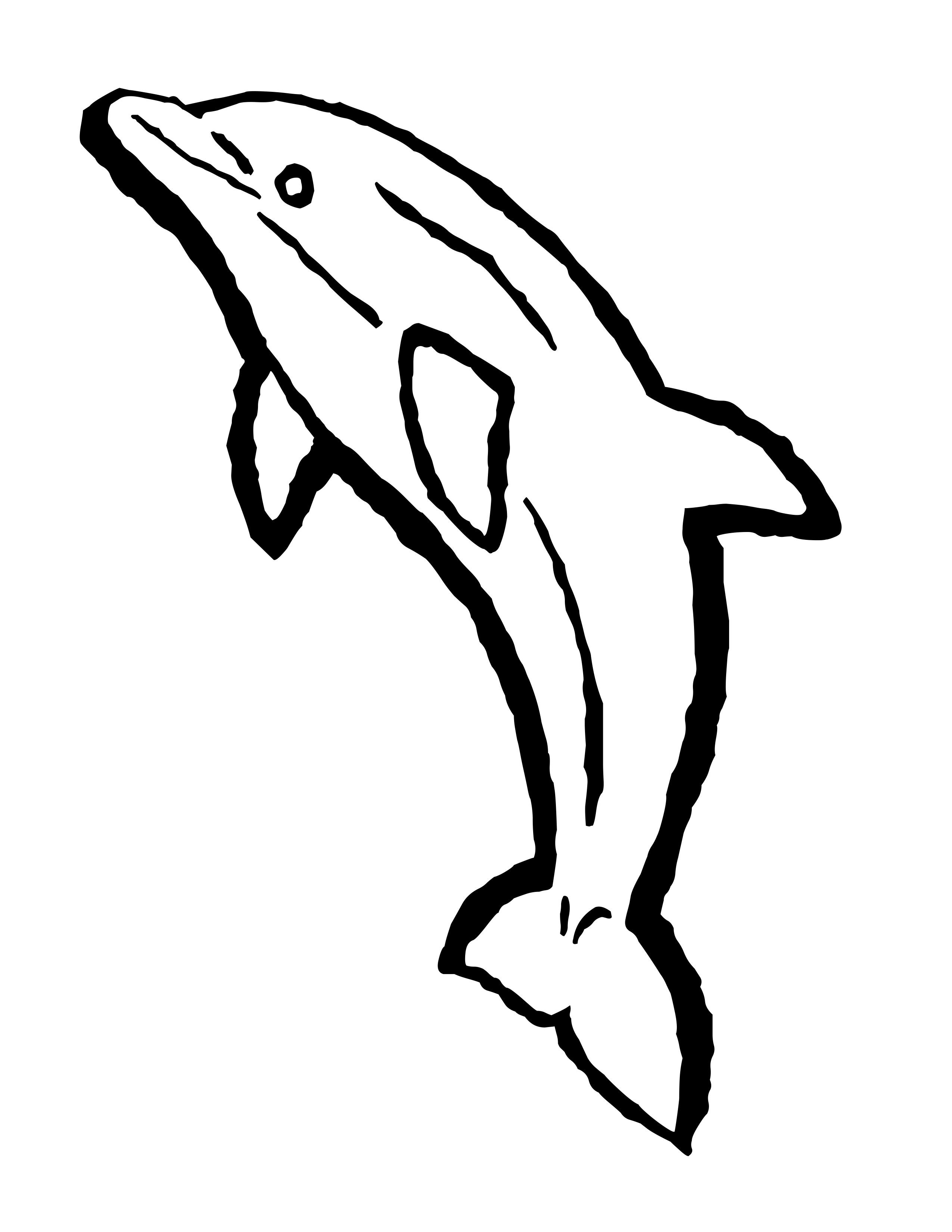 Dolphin Outline Clip Art | Free Dolphin Coloring Pages | dolphin ...