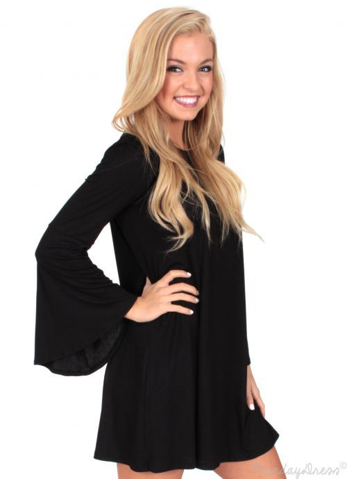 Shadows Fall Dress in Black | Monday Dress Boutique