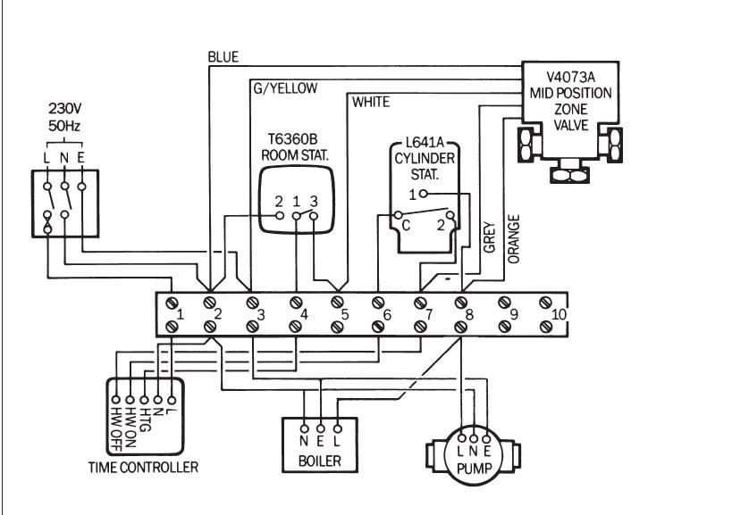 heating 3 port valve wiring diagram  google search