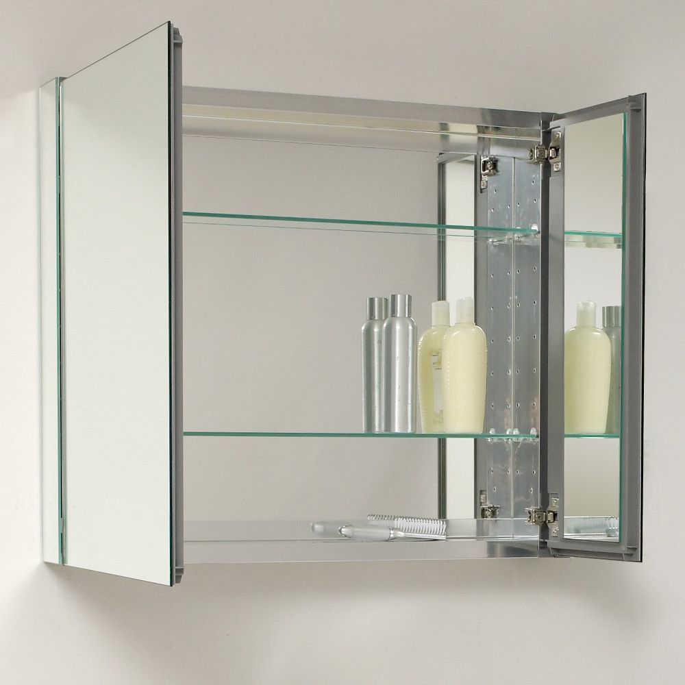 Fresca 30 Bathroom Mirror Cabinet Glass Bathroom Bathroom