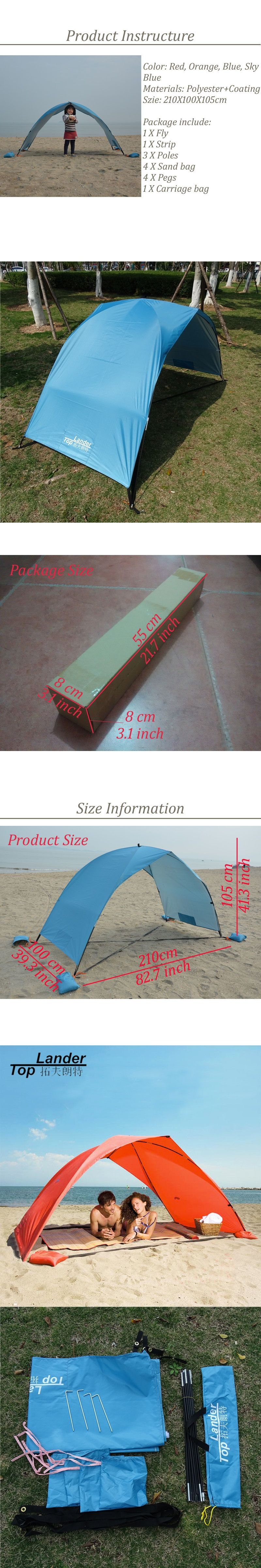 awning shelter meter tent product beach camping waterproof survival sun outdoor gazebo