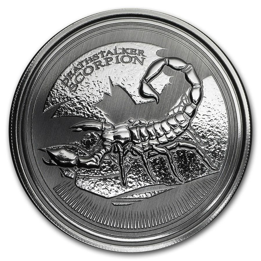 2017 Chad 1 Ounce Deathstalker Scorpion Silver Coin In 2020 Silver Coins Coins Coin Art