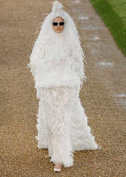 Vestidos de novia tipo chanel