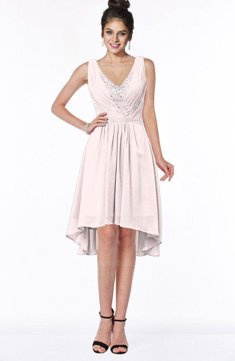 cd931e3a95850 ColsBM Monica Traditional A-line V-neck Half Backless Chiffon Hi-Lo  Bridesmaid Dresses #colsbm #bridesmaids #bridesmaiddress #weddings .