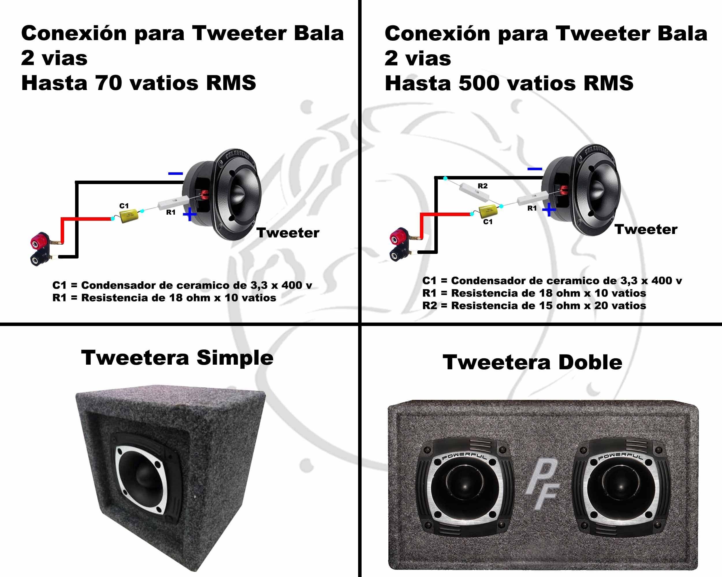 Conexiones muy simples para parlantes, Crossover Pasivo | Audio ...