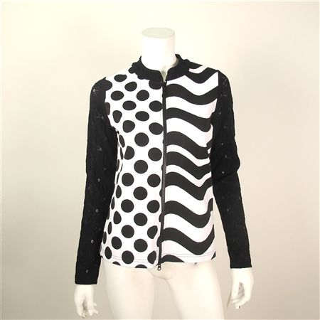 Sno Skins - Black and White Polka Dot Jacket