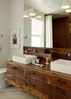 rustic modern bathroom google search - Rustic Modern Master Bathroom