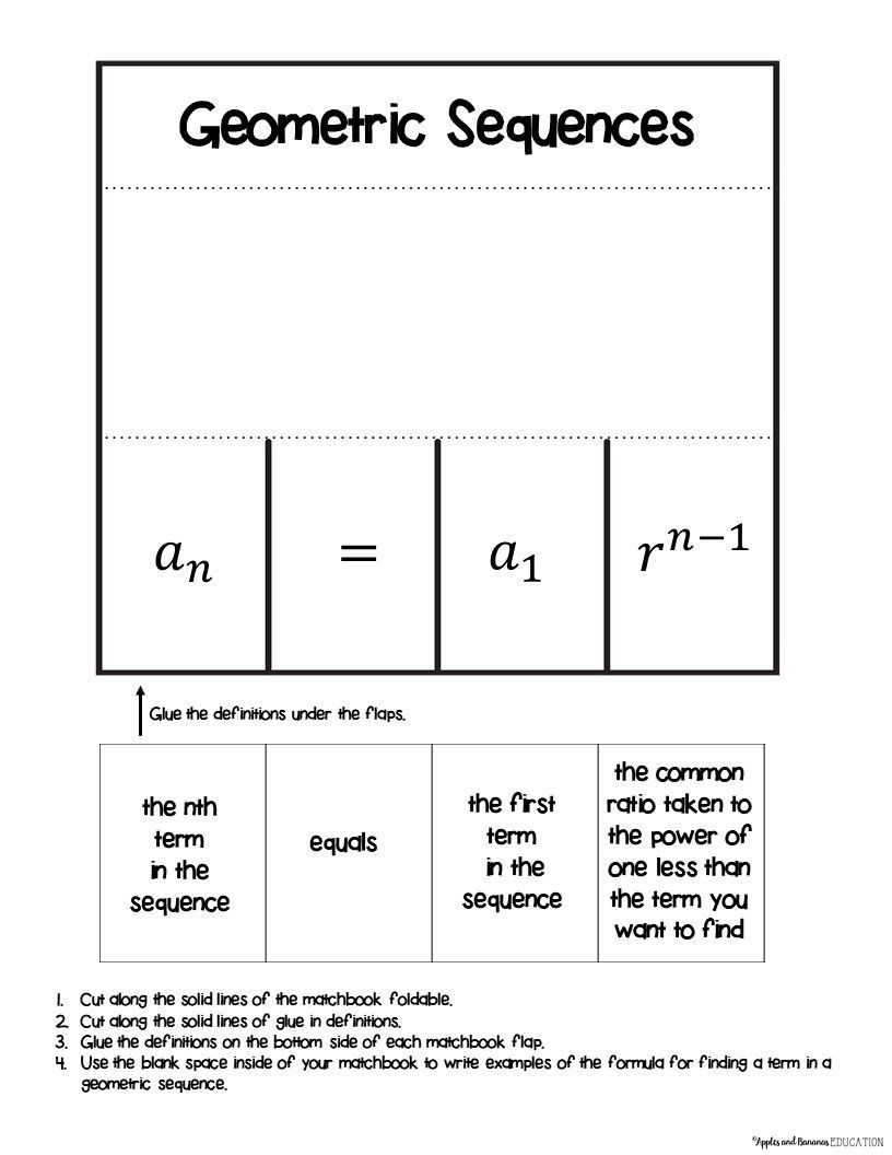 Arithmetic And Geometric Sequences Worksheet Geometric Sequences In The Real World In 2020 Geometric Sequences Graphing Linear Inequalities Sequencing Activities