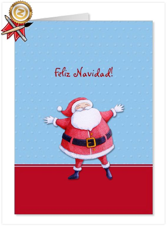 Santa claus blue spanish christmas card floating lemons treats santa claus blue spanish christmas card m4hsunfo