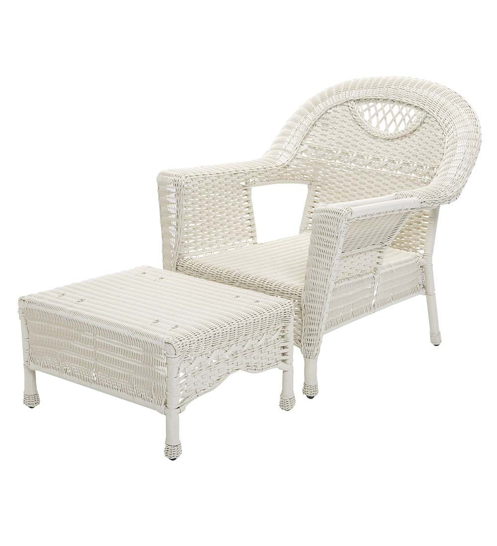Outdoor wicker chaise lounge chair prospect hill