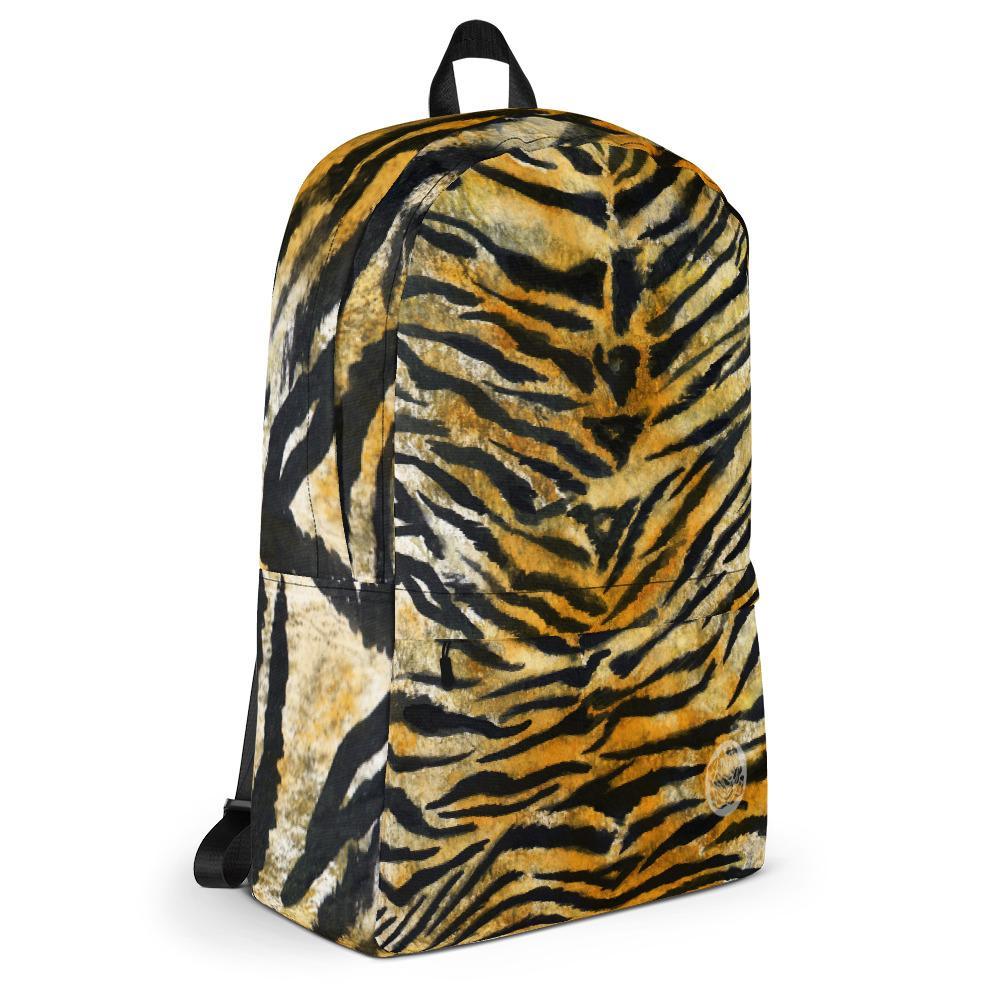 d6bbf965094 Shiko Bengal Tiger Animal Print Designer Medium Size Backpack - Made i –  heidikimurart