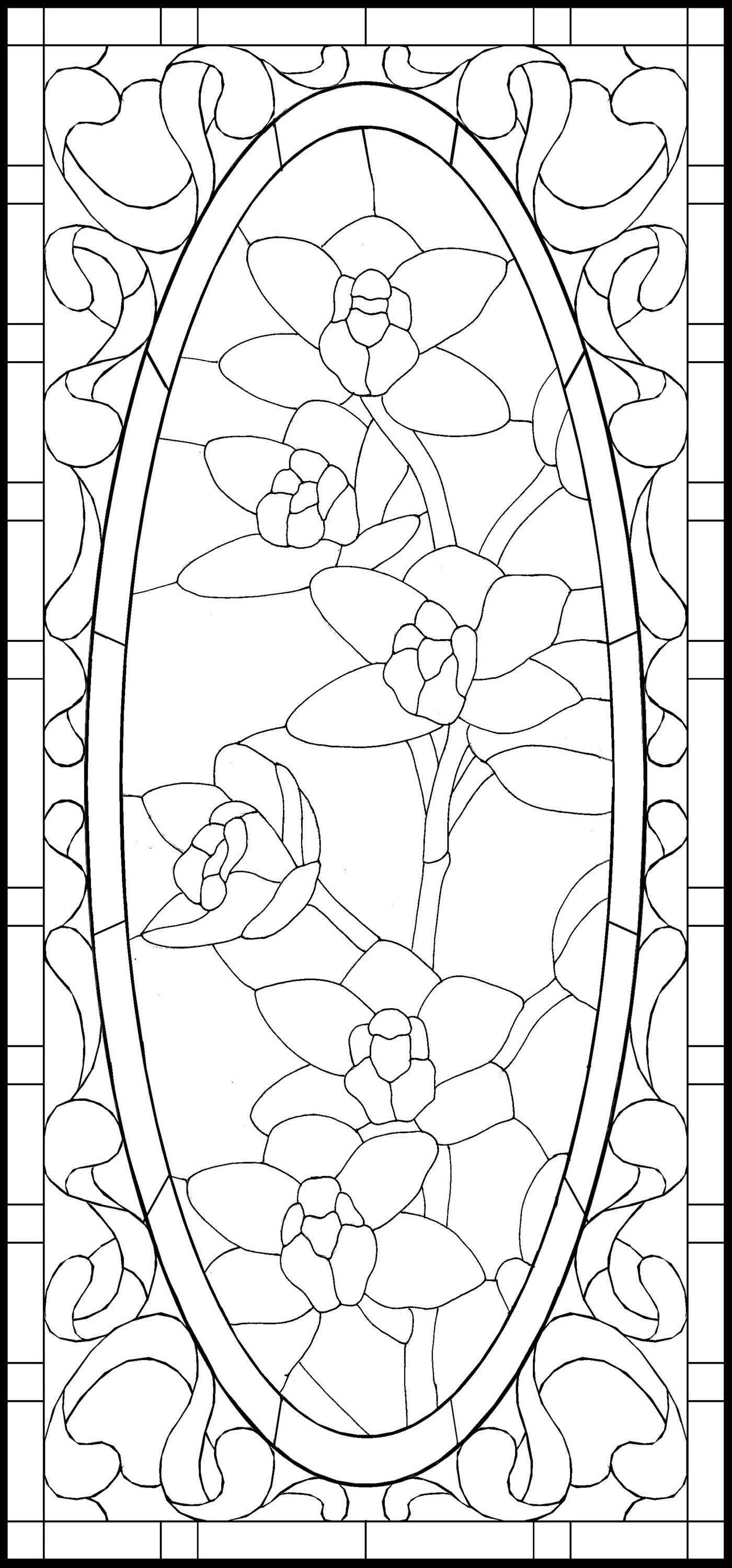 Template Stained Glass Patterns Stained Glass Designs Glass Art