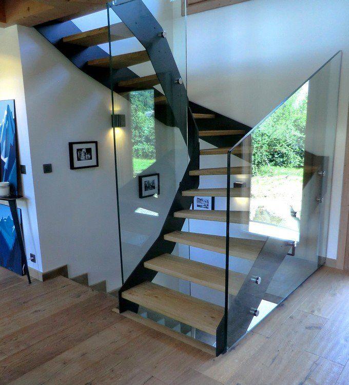 Escalier contemporain Loft, escaliers à limons métal sur mesure ...