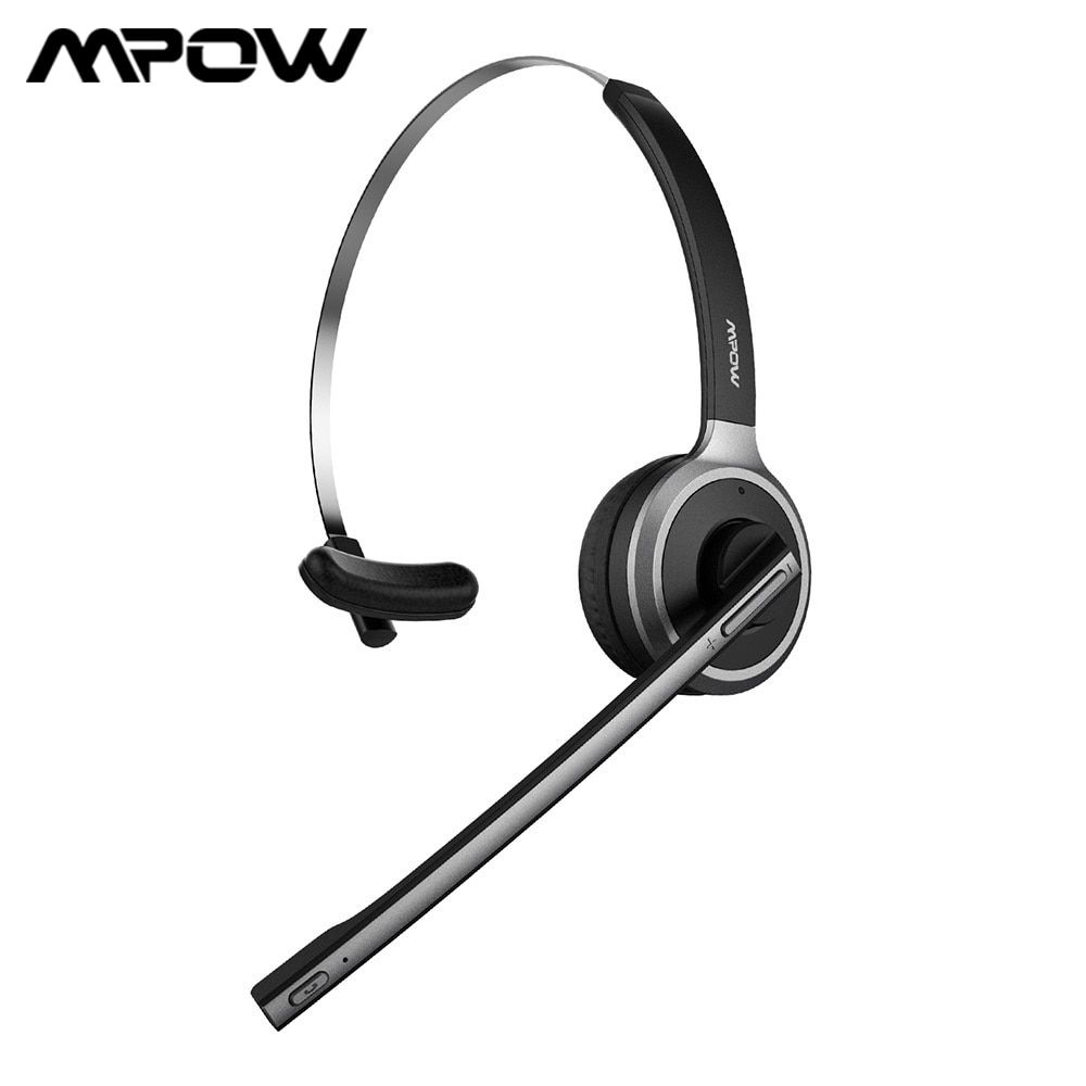 Mpow M5 Bluetooth Headset Wireless Headphone 13h Talking Time Earphone With Noise Cancelling Microphone For Call Center Pc Phone Boughtagain In 2020 Wireless Headphones Bluetooth Headset Headset