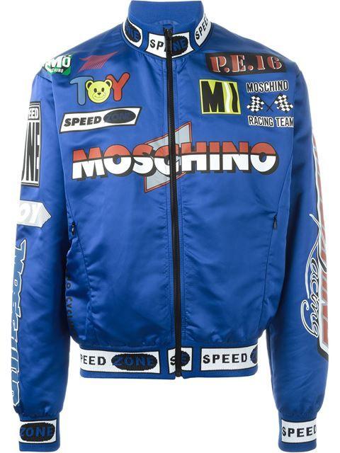 f33490f5756 Moschino racing bomber jacket   SHOP   Jackets, Bomber jacket, Races ...