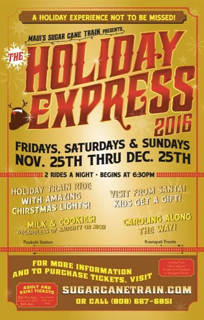 All Aboard The Holiday Express! Nov 25-Dec 25 - http://fullofevents.com/hawaii/event/all-aboard-the-holiday-express-nov-25-dec-25/