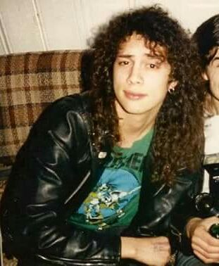 Image result for young kirk hammett