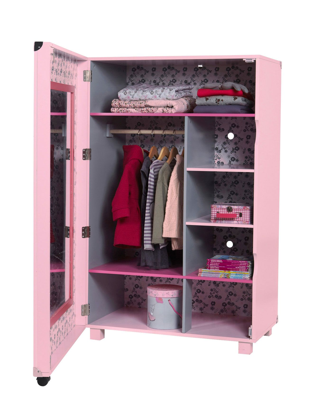 Armoire Dressing Fille A Roulettes Citad Ailes Chambre Bebe