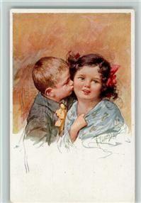 Feiertag, K. BKW Serie 665-6 - Kinderpoesie, der Kuss