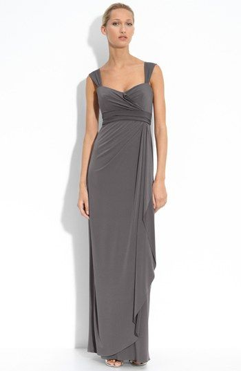 Amsale Ruched Jersey Dress available at #Nordstrom  This is pretty, although I wish it were short!