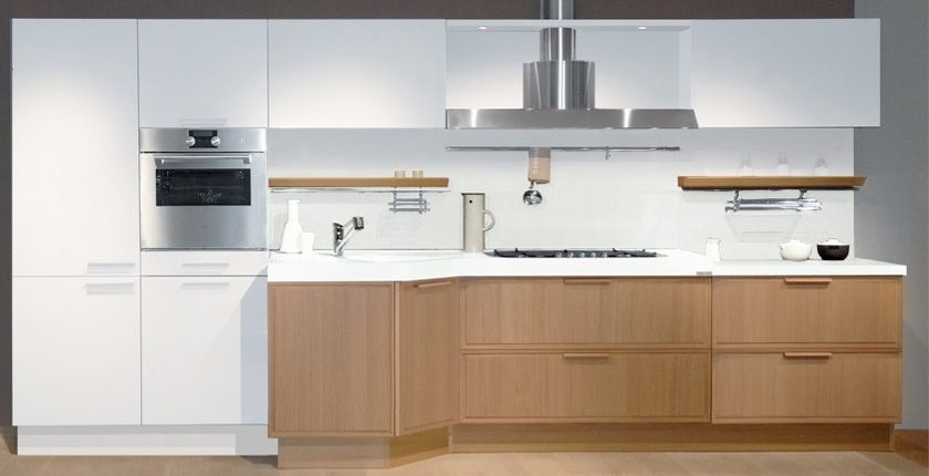 White Kitchen Oak awesome light oak wooden kitchen designs : light oak wooden