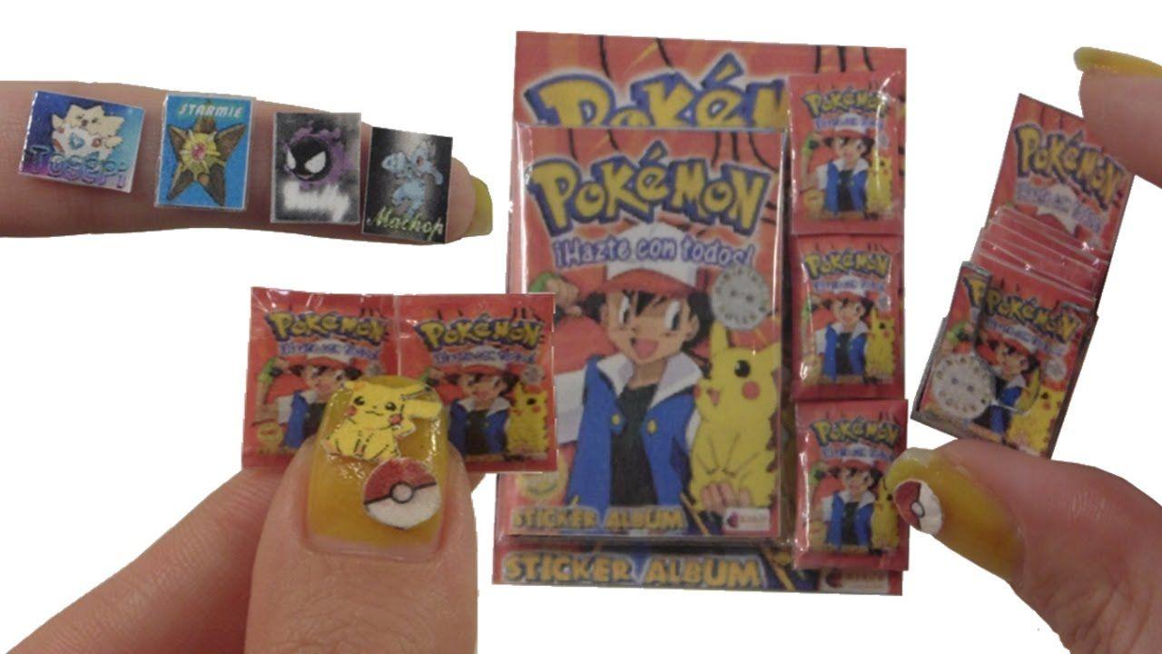 Diy miniature sticker album pokemon for dollhouse
