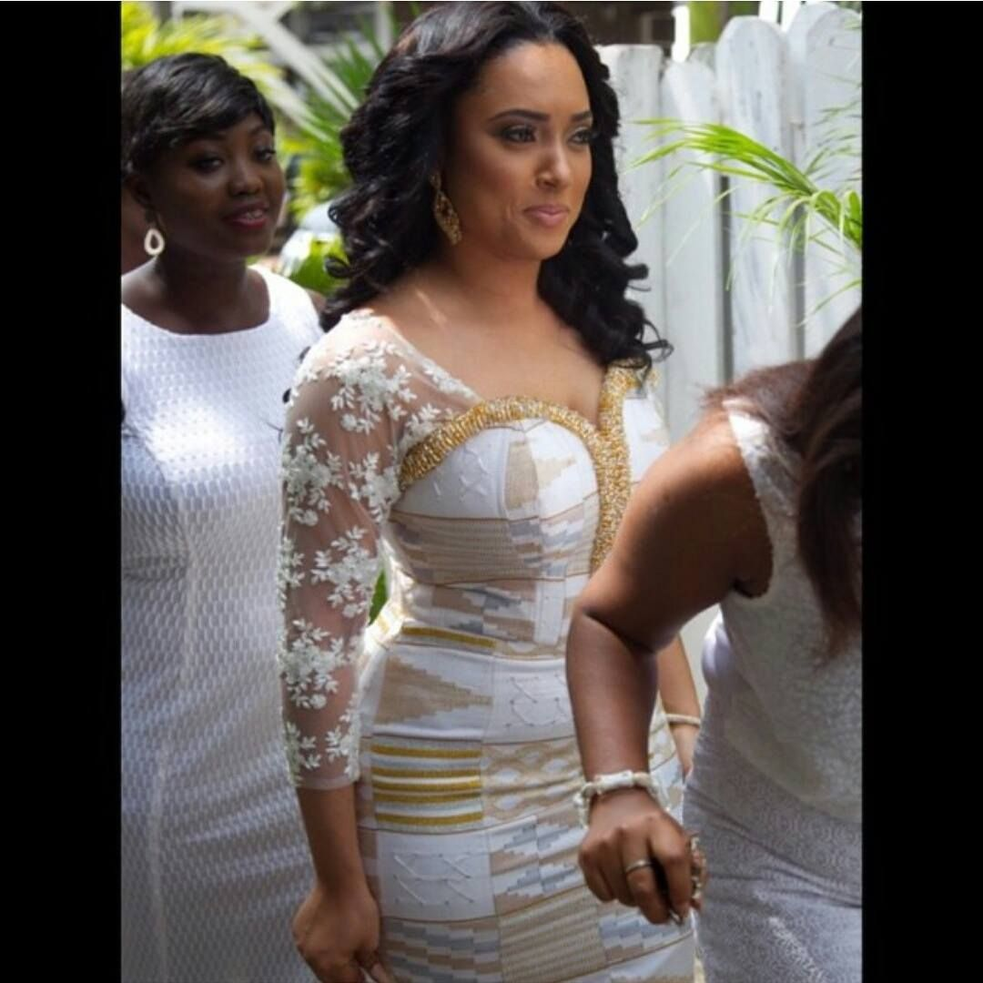 african print wedding dresses Isn t she just fab in her custom gown congrats to Kente by Dress by Mua