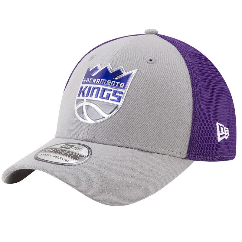 size 40 4d9e2 60b19 Sacramento Kings New Era On-Court 39THIRTY Flex Hat - Gray