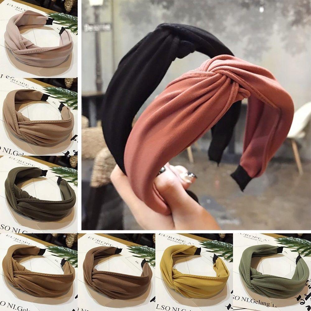 Women/'s Tie Headband Twist Hairband Knot Cross Fabric Hair Band Hoop Accessories