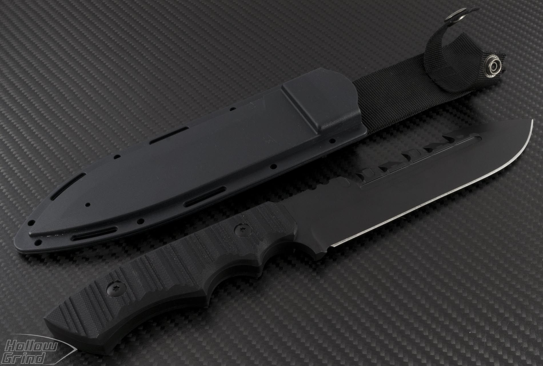 (#JB-Coroner-Black) Brous Blades Coroner Black - Hollow Grind - Authorized Microtech Dealer