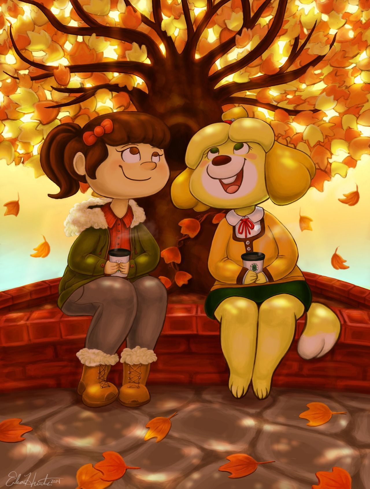 Animal Crossing Porn Tom Nook mayor and isabelle enjoying a nice cup of coffee under the
