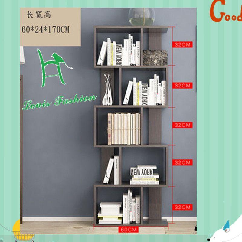 Moderne kantoor boekenplank eenvoudige tafel eenvoudige plank vloer ...