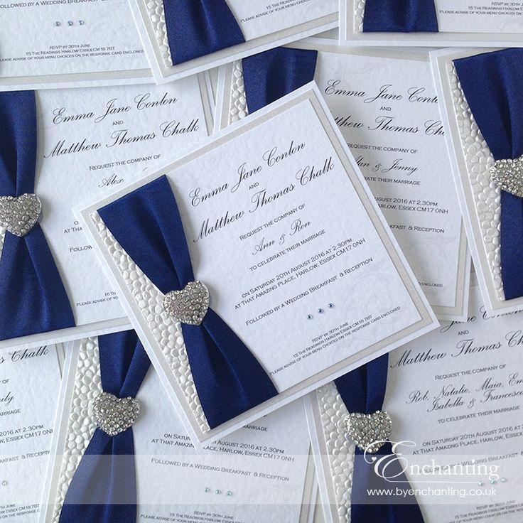 Navy Wedding Invite | The Ariel Collection - Luxury Flat ...