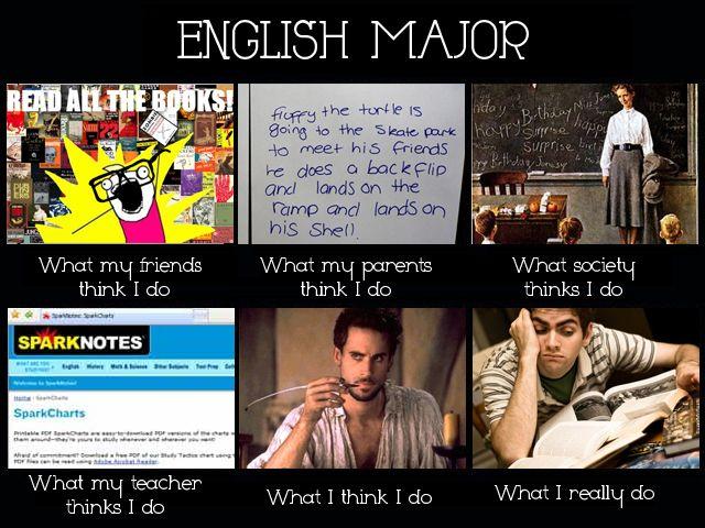 English writing major