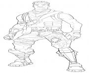 fortnite default skin coloring page male coloring