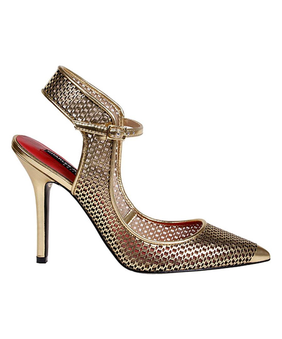 Look at this Gold Orson Leather Pump on #zulily today!