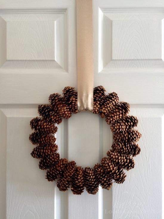Create An Easy And Elegant Pinecone Wreath - KnockOffDecor.com