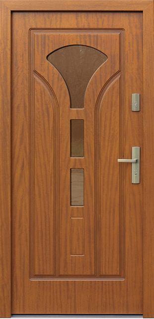 Drewniane wejściowe drzwi zewnętrzne do domu z katalogu modeli klasycznych wzór 508s3f1