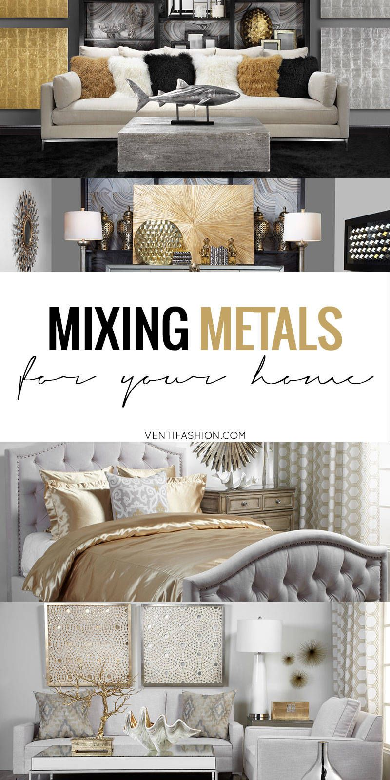 Home Decor Mixed Metals Gold Home Decor Home Decor