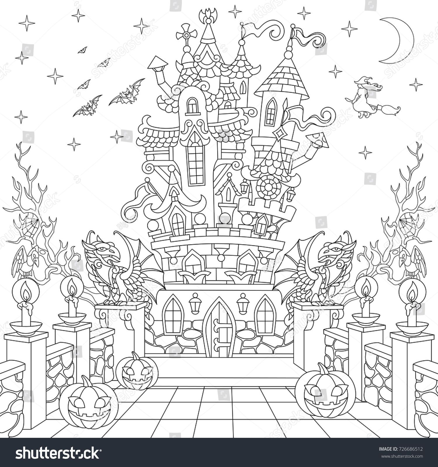 FREE Halloween Coloring Pages for Adults & Kids - Happiness is ... | 1600x1500