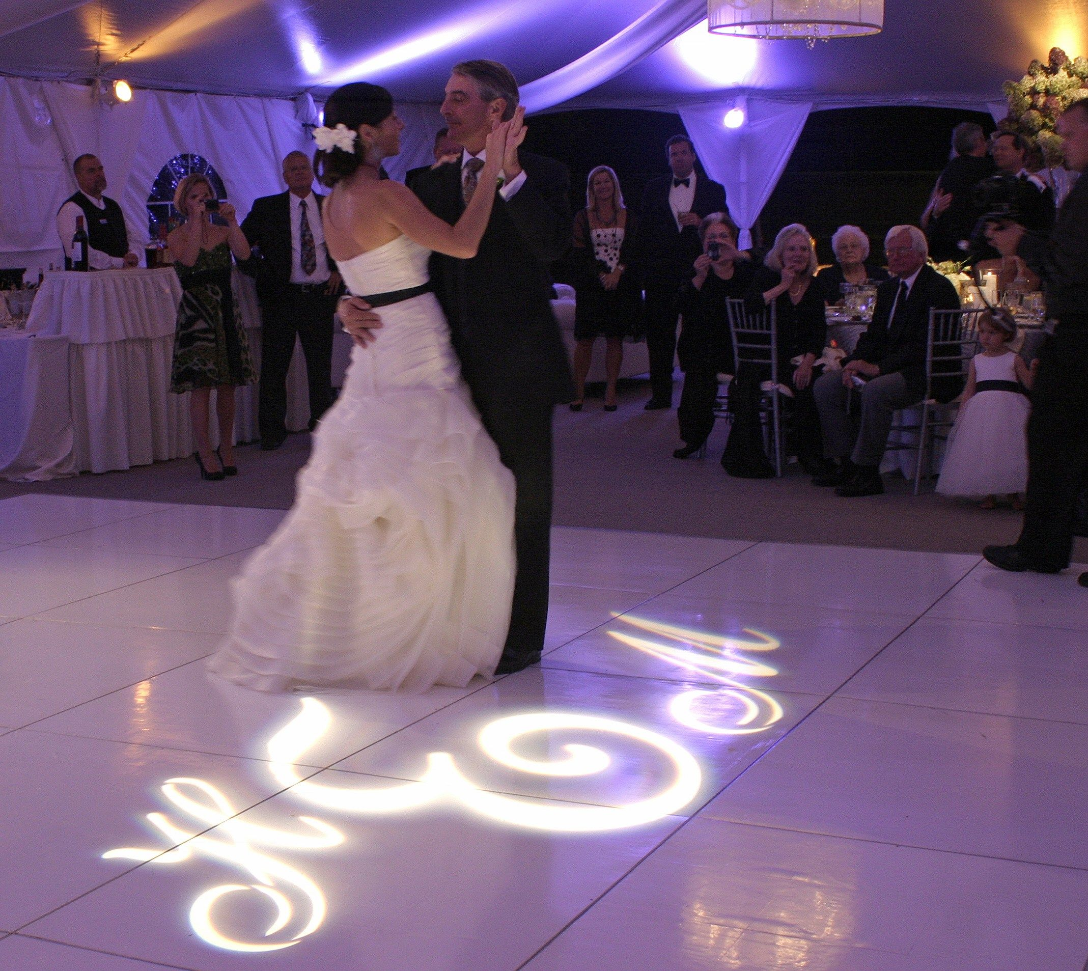Swirling Vera Wang Silk And A Swirly Font Gobo Take The Dance Floor At This Biltmore