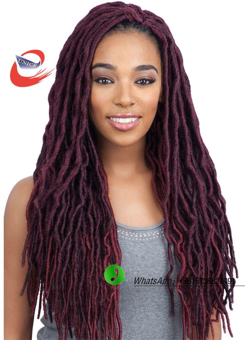 faux locs crochet braids synthetic braiding hair ,hair